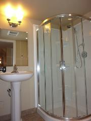 Full bathroom with new shower