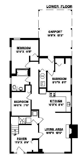 Vancouver special house floor plan