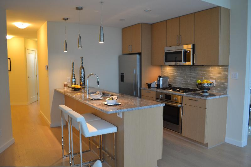 Photo gallery for new 2 bedroom plus den apartment olympic village vancouver www for Two bedroom apartment vancouver