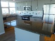 Kitchen- New Flooring & Paint, Burarrd Inlet/Mountain Views from windows